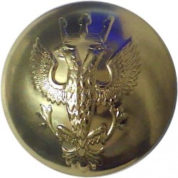 Royal Winnipeg Rifles - Black 23.5mm - 1912-1968  Plastic Military uniform button