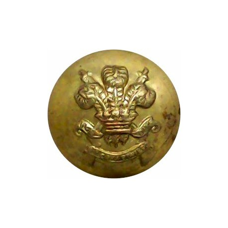 3rd Carabiniers (Prince Of Wales's Dragoon Guards) 15mm - Post-1928  Gilt Military uniform button