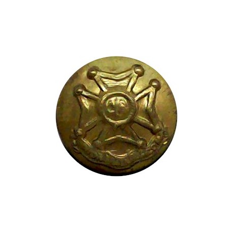 Royal Engineers - GviR 17mm with King's Crown. Brass Military uniform button