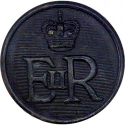 Ministry Of Defence Police - EiiR 25mm - Black with Queen Elizabeth's Crown. Horn Military uniform button