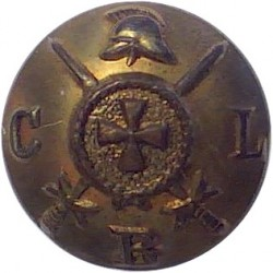 Ceylon Planters Rifle Corps - CPRC Pattern 17mm - 1900-1949  Horn Military uniform button