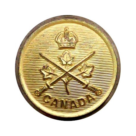 9th Queen's Royal Lancers 19.5mm with King's Crown. Brass Military uniform button