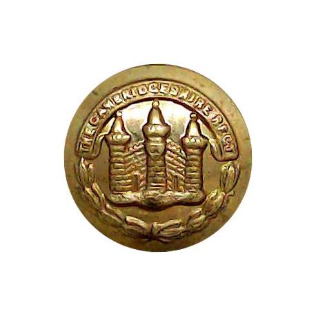 Cambridgeshire Regiment 15mm  Gilt Military uniform button