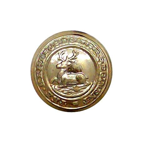 Hertfordshire Regiment 14.5mm - 1908-1961  Gilt Military uniform button