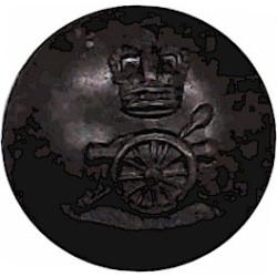 Royal Artillery - For Service Dress Cap 14mm with Queen Elizabeth's Crown. Bronze Military uniform button