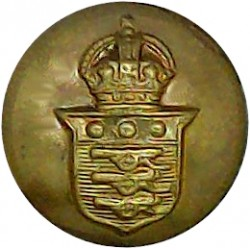Royal Army Ordnance Corps - No Lettering 14mm with King's Crown. Brass Military uniform button