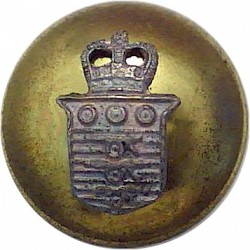 Army Air Corps - 1942-1950 17mm - Flat Indented King's Crown. Brass Military uniform button