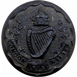 Indian Medical Service - GviR - 1936-1952 13.5mm Mounted Dome King's Crown. Bronze Military uniform button
