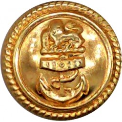 Welch Regiment 14mm Bronze Military uniform button