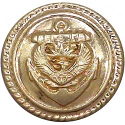 South African Naval Defence Force (Secretary Bird) 22.5mm - Post-2002  Gilt Military uniform button