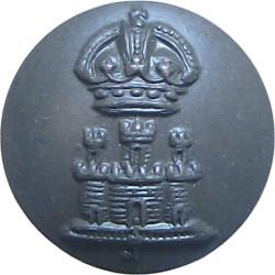 Suffolk Regiment 13.5mm with King's Crown. Bronze Military uniform button