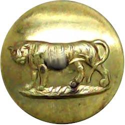 Leicestershire Regiment (Tiger's Tail Down) 14mm  Gilt Military uniform button