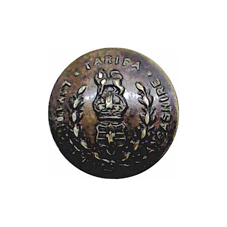 Gloucestershire Regiment 18.5mm with King's Crown. Brass Military uniform button