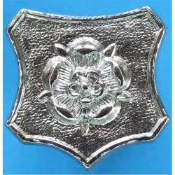 Northamptonshire Police - Rose On Shield Collar Badge  Chrome-plated UK Police or Prison insignia