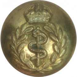 Royal Army Medical Corps 14mm - Officers with King's Crown. Gilt Military uniform button