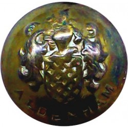 Scots Guards - Officers' Quality 18.5mm Mounted Dome with King's Crown. Gilt Military uniform button