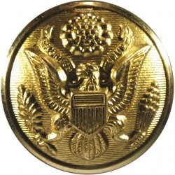 Royal Canadian Navy - Petty Officers (Plain Rim) 23mm - 1952-1968 with Queen Elizabeth's Crown. Gilt Military uniform button