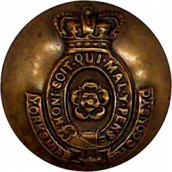 King's Own Malta Regiment 16.5mm King's Crown. Gilt Military uniform button