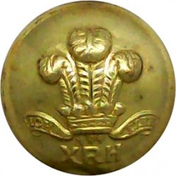 10th Royal Hussars (Prince Of Wales's Own) 15.5mm  Brass Military uniform button