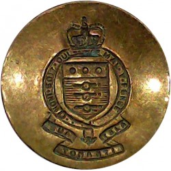 Royal Canadian Engineers - EiiR 25.5mm - 1952-1967 Queen's Crown. Brass Military uniform button