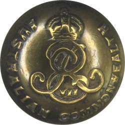 Australian Commonwealth Military Forces - EviiR 17mm - 1903-1910 with King's Crown. Brass Military uniform button