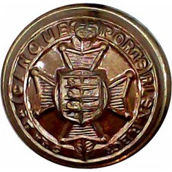 Dorsetshire Regiment (2 Tower Castle) 18.5mm - 1881-1900 Brass Military uniform button