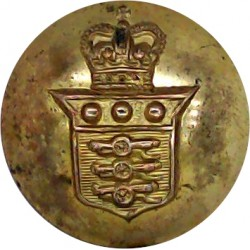 Royal Army Ordnance Corps - Officer Quality 19.5mm - 1952-1993 with Queen Elizabeth's Crown. Gilt Military uniform button
