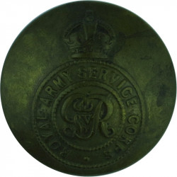 Royal Army Service Corps - GvR 25.5mm - 1919-1935 with King's Crown. Brass Military uniform button