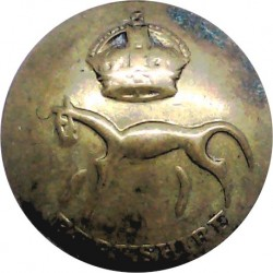 Berkshire Yeomanry Battery 299th Field Regiment RA 25mm - Rubbed with King's Crown. Brass Military uniform button
