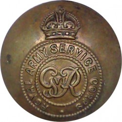 Royal Army Service Corps - GviR 26.5mm - 1936-1952 with King's Crown. Brass Military uniform button