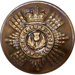 Ceylon Mounted Rifles 26.5mm - 1906-1938  White Metal Military uniform button