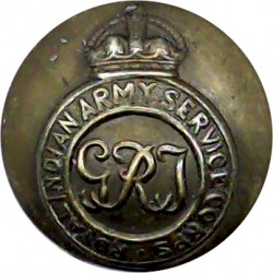General List - Royal Arms (Officers) 25mm - 1902-1952 with King's Crown. Bronze Military uniform button
