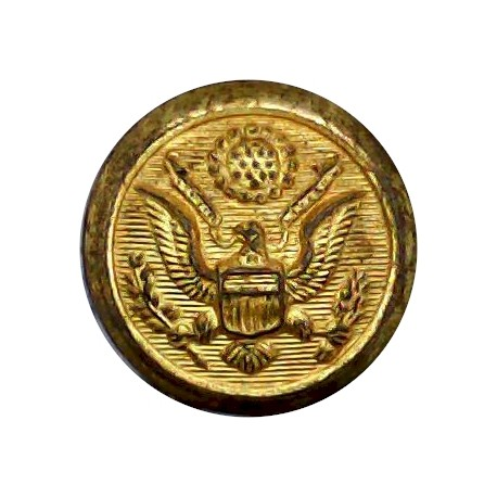 Royal Canadian Army Medical Corps 17mm - 1952-1968 with Queen Elizabeth's Crown. Gilt Military uniform button