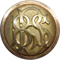 1st Punjab Regiment (Indian Army) 19mm - 1923-1947 Brass Military uniform button