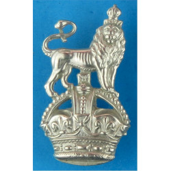 War Department Constabulary Collar Badge Crown Over Lion FR with King's Crown. White Metal UK Police or Prison insignia