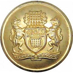 Admiralty Constabulary - No Rim 19.5mm - 1952-1971 with Queen Elizabeth's Crown. Chrome-plated Military uniform button