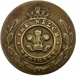 Welch Regiment 19mm - 1920-1952 with King's Crown. Brass Military uniform button