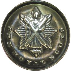 Royal Scots (The Royal Regiment) - Narrow Cross 18.5mm  Brass Military uniform button