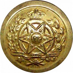 South Lancashire Regiment (Prince Of Wales's Vols) 25.5mm - Officers' with King's Crown. Gilt Military uniform button