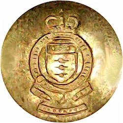 Intelligence Corps Blazer Button 21mm Flat Mounted Queen's Crown. Silver-plate and gilt Military uniform button