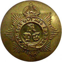 1st The King's Dragoon Guards 19.5mm - Officers' with King's Crown. Gilt Military uniform button