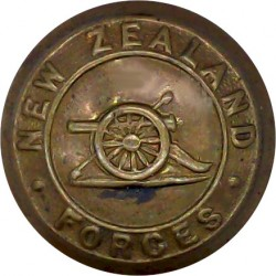 New Zealand Artillery 25.5mm  Brass Military uniform button