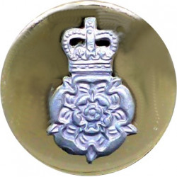 Intelligence Corps Blazer Button 21mm Flat Mounted with Queen Elizabeth's Crown. Silver-plate and gilt Military uniform button