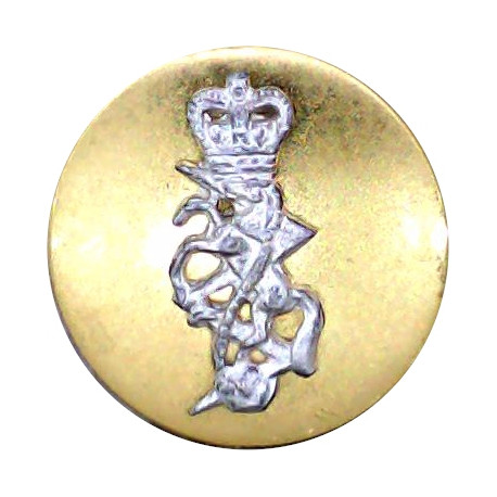 West Kent Yeomanry Cavalry 17mm  Silver-plated Military uniform button