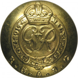 Australian Military Forces 16.5mm King's Crown. White Metal Military uniform button