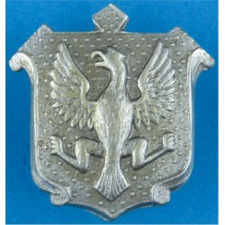 East Riding Of Yorkshire Constabulary Collar Badge Eagle FL On Shield  White Metal UK Police or Prison insignia