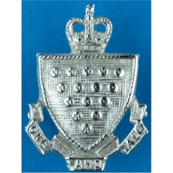 Police Shoulder / Collar Number 0   Chrome-plated UK Police or Prison insignia