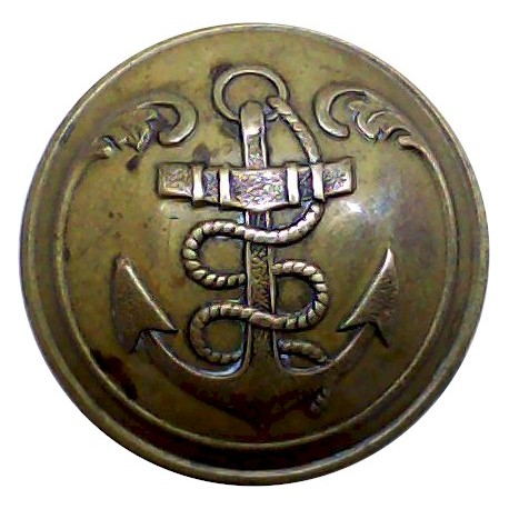 French Marine Infantry - Other Ranks 23mm - Unlined  Brass Military uniform button