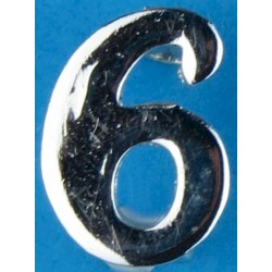 Police Shoulder / Collar Number 6 Or 9   Chrome-plated UK Police or Prison insignia