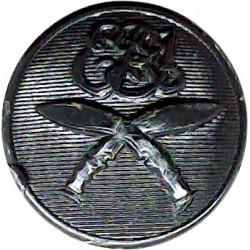 2nd King Edward VII's Own Gurkha Rifles (No Crown) 19.5mm - Black  Plastic Military uniform button